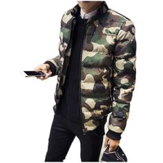 47.60$  Buy here - http://alir9w.worldwells.pw/go.php?t=32743318569 - 2016 new winter camouflage cotton-padded clothes men big yards Leisure cotton-padded jacket coat thickening trend