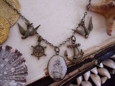 The High Seas nautical charm necklace
