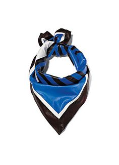 This isn't your grandma's printed scarf. Leather scarf by Céline.