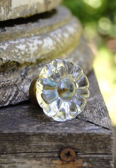 Vintage Glass Knob from a Dresser or Cabinet by Daniscustomdesigns, $4.95