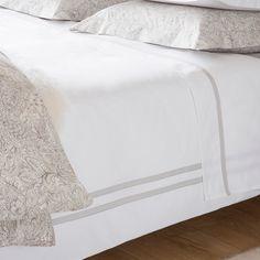 LINEN BAND PERCALE BED LINEN - Bed Linen - Bedroom | Zara Home United Kingdom