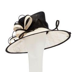 John Lewis Tilly Occasion Hat, Black/Ivory