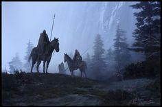Horses, by Sean Sevestre High Fantasy, Dark Fantasy Art, Fantasy Rpg, Medieval Fantasy, Fantasy Artwork, Fantasy World, Fantasy Warrior, Fantasy Setting, Fantasy Kunst
