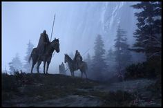 Horses, by Sean Sevestre High Fantasy, Dark Fantasy Art, Fantasy Rpg, Medieval Fantasy, Fantasy Artwork, Fantasy World, Fantasy Setting, Fantasy Warrior, Fantasy Landscape
