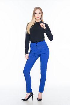 Spodnie z podwyższonym stanem SL4003BL www.fajne-sukienki.pl Capri Pants, Fashion, Moda, Capri Trousers, Fashion Styles, Fashion Illustrations