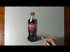 Drawing Time Lapse: Coca-Cola plastic bottle - hyperrealistic art - YouTube