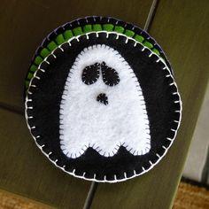 Felt Coasters - Ghostie by River (Wing-It Vegan), via Flickr