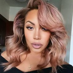 Curly Hair Styles, Natural Hair Styles, Natural Hair With Color, Colored Hair Styles, Unique Hair Color, Fun Hair Color, Perfect Hair Color, Colored Curly Hair, Different Hair Colors