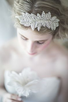 "Wedding Accessories: Hair Adornments by ""Powder Blue Bijoux"" - Munaluchi Bridal Magazine"