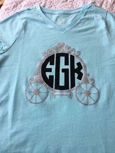 Cinderella carriage monogram shirt
