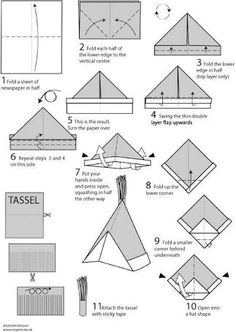 Image result for paper folding hat instructions