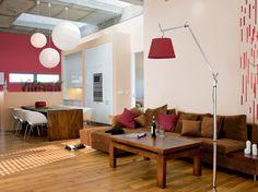 Pomysły na malowanie Tikkurila - Salon - Z nutą czerwonego wina