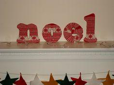 Ravelry: Noel Letters pattern by Debbie Bliss