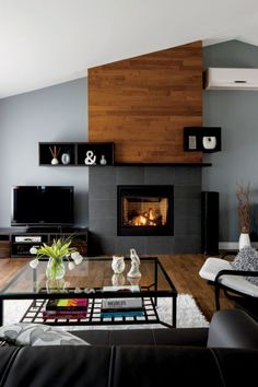 6 Abundant Tips AND Tricks: Shiplap Fireplace unique fireplace screen.Stone Fireplace Screen fireplace built ins styling.Fireplace Built Ins Sconces. Linear Fireplace, Cottage Fireplace, Fireplace Seating, Fireplace Built Ins, Fireplace Shelves, Shiplap Fireplace, Old Fireplace, Farmhouse Fireplace, Fireplace Remodel
