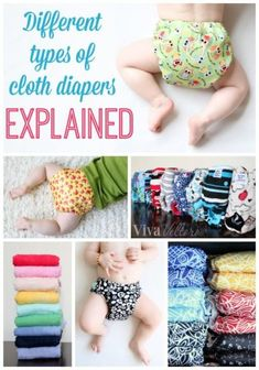 The different types of cloth diapers explained!  Plus, a breakdown of all those abbreviations!