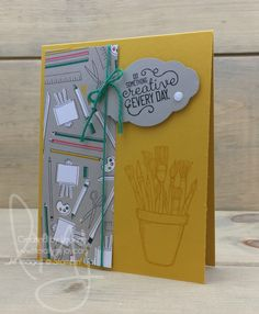 Create Everyday | Stampin\' Up! | Crafting Forever #literallymyjoy #creative #papercrafting #craft #create #paintbrushes #art #scissors #bow #color #emeraldenvy #20172018AnnualCatalog