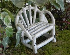 This whimsical miniature bench is sure to delight the fairies! It will also be a great addition to your miniature garden or terrarium. Who doesnt love a whimsical little bench! ✿ Bench measures approximately 2 3/4 inches tall x 3 1/2 inches wide x 2 inches deep. This is an adult collectible. Not intended for small children. Not a toy.