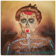 A personal favorite from my Etsy shop https://www.etsy.com/listing/489036764/day-of-the-dead-art-sugar-skull-altered