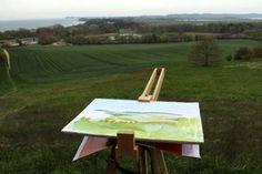 Landschaftsmalerei – Ostseebad Göhren | Plain Air Malerei auf dem Mönchgut (c) Frank Koebsch (1)