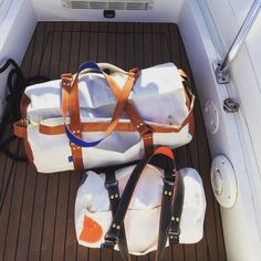 Duffels made from sailcloth on the Greek island of Cyprus