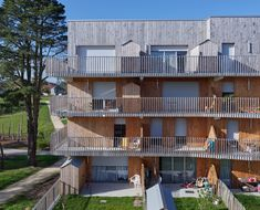 105 Collective Housing La Jaguère / Guinée et Potin Architects Co Housing, Social Housing, Metal Railings, Wood Cladding, Dream House Exterior, Private Garden, Winter Garden, Architecture, Countryside