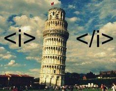 So sehen #Programmierer den Schiefer Turm von #Pisa