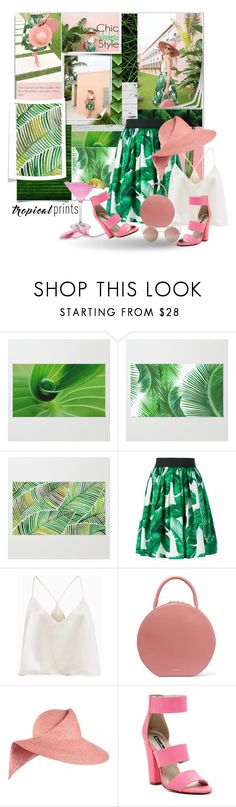 """Tropical prints"" by idetached ❤ liked on Polyvore featuring interior, interiors, interior design, home, home decor, interior decorating, Dolce&Gabbana, Mansur Gavriel, Eugenia Kim and Michael Antonio"