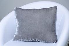 Decorative gray velvet pillow case. by ThePillowWorld on Etsy