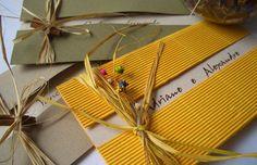 Convite de Casamento Rústico ideal para quem vai se casar no campo ou na praia. http://www.balgraphic.com.br