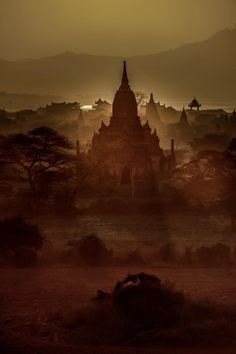 Sunset on the great plains. Great Plains, Bagan, Monument Valley, Sunset, World, Nature, Travel, February, Temples