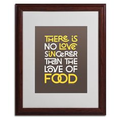 Sincere Love of Food III by Megan Romo Matted Framed Textual Art