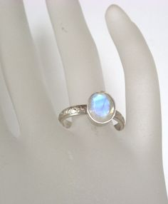 Regenbogen Mondstein Ring Silber oder Silber von KreativSchmuck