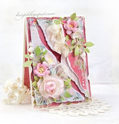 Lemoncraft: Inspiruje Klaudia: kwieciste kartki - Inspirations from Klaudia: flowered cards