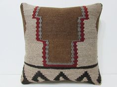 characteristic kilim pillow 18x18 brown by DECOLICKILIMPILLOWS