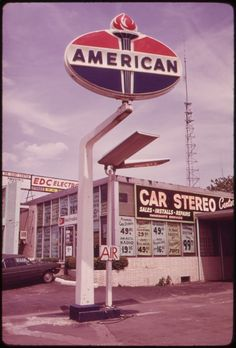 vintage gas stations photos - American