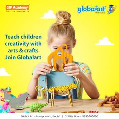 Making things and coming up with new ideas about how to accomplish a task teaches children how to solve problems for themselves. When they accomplish small tasks, they gain confidence to accomplish even larger tasks. Join Global art and see your kid's imaginations bloom with fun arts and crafts! Join Globalart Irumpanam now. Limited Seats Only. Call us for more details: 98956 60000 #Globalart #Kochi #Irumpanam #Art #Creativity #Drawing #Imagination Fun Arts And Crafts, How To Gain Confidence, Kochi, Global Art, Creative Kids, Problem Solving, Teaching Kids, Imagination, Cool Art