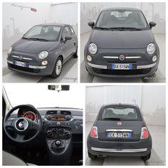 Fiat 500 lounge 69 cv, color nero vesuvio, usata, del luglio 2011.     #fiat #usato #mirafiorioutlet