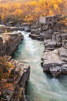 Natural geometries by monisiri  abisko autumn canyon monica siri natural geometries natural shapes river stream sweden warm colors w