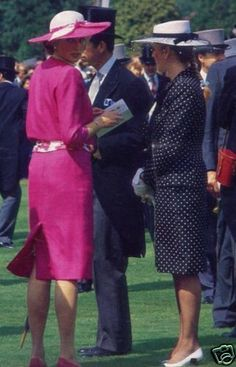 Princess Diana and Sarah Ferguson (when she was Duchess of York and during her marriage to Prince Andrew)
