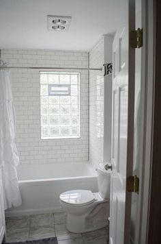 Like the glass block. Sarah and I were talking about maybe doing both of the windows in the shower room in glass block?