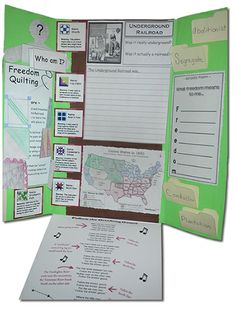 Underground Railroad LapBook - Creative way to learn! Lapbooks allow learners to be creative and retain the information that they had a hand in putting together. $