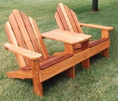 These Adirondack chair plans will help you build an outdoor furniture set that becomes the centerpiece of your backyard . It's a good thing that so many plastic patio chairs are designed to stack, and the aluminum ones fold up flat. Yard Furniture, Street Furniture, Coaster Furniture, Unique Furniture, Pallet Furniture, Furniture Plans, Rustic Furniture, Outdoor Furniture, Furniture Online