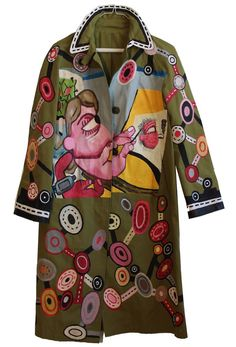 SUZAN PITT 'PAINTER' Coat- IMMEDIATE DELIVERY SIZE S