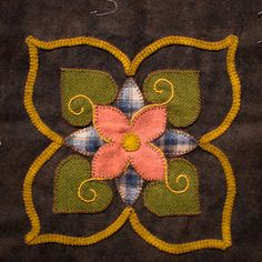 Wool Appliqué quilt block - Intimistic Quilt Company - Inspired by - Affairs of the heart