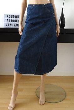 12bf5f70 Jupe bleue LEVI'S Engineered taille XS de la boutique POUPOUPIDOUX sur Etsy  Jupe À Taille Haute