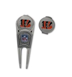 Cincinnati Bengals Ball Mark Repair Tool & Hat Clip Combo by WinCraft. Save 14 Off!. $17.16. CHOKING HAZARD: Small parts. Not for children under 3 years.   You can cheer for the Cincinnati Bengals while you repair divots, mark your ball, or clean turf from your cleats with this divot tool, hat clip and ball marker combo by McArthur®. The combo includes 1 divot tool, 1 hat clip and 2 magnetic ball makers, making it the perfect gift for the avid golfer in your life. Each item in th...