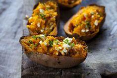 .Rezept: Gefüllte Süßkartoffel mit Feta