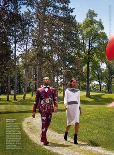 """Heart & Soul"" Liya Kebede and Michael B. Jordan for Vogue US August 2015"