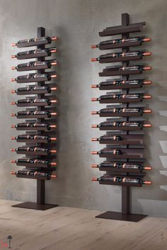 standing wine rack - Not everyone has enough space in their home for a wine cellar or storage space, so the Siderio 'Dioniso Basic!' standing wine rack is i. Wine Rack Wall, Wine Wall, Wine Shelves, Wine Storage, Wine Stand, Rustic Wine Racks, Wine Display, Bottle Rack, Bottle Opener