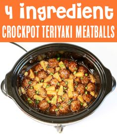 Teriyaki Meatballs Crockpot Frozen Appetizer or Dinner! This EASY dish that starts with frozen meatballs is loaded with flavor and can be served straight from your slow cooker as an appetizer, or over rice as a delicious dinner! Plus, with just 4 Ingredients, it's SO simple to make! Go grab the recipe and give it a try this week! Crockpot Frozen Meatballs, Appetizer Meatballs Crockpot, Slow Cooker Frozen Meatballs, Frozen Meatball Recipes, Slow Cooker Appetizers, Teriyaki Meatballs, Crock Pot Meatballs, Appetizer Recipes, Delicious Crockpot Recipes